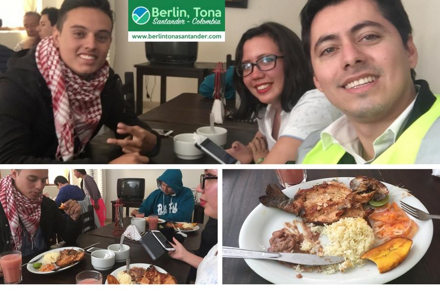 Con Mafe y Sebastián almorzando una deliciosa mojarra en Vetas | Páramo Santurbán - Berlín, Tona - Santander Colombia